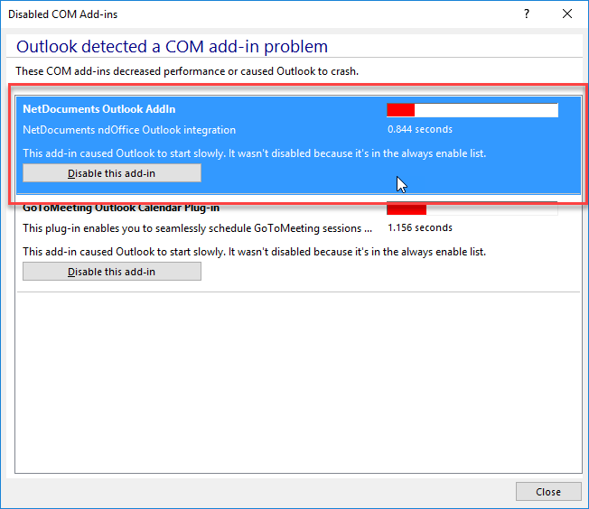 Outlook AddIn Disabled - OTB Consulting